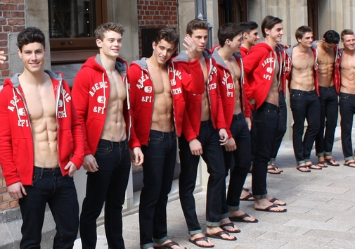 Abercrombie & Fitch Shirtless Models in Hamburg