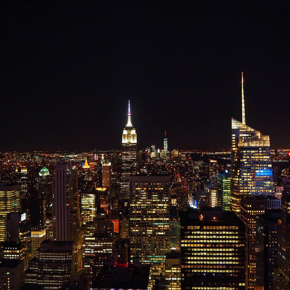 New York Skyline bei Nacht NYC
